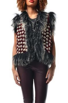Shoptiques Product: Vest Embellished Fabric
