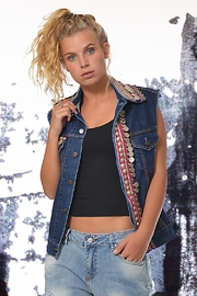 Gypsetters Vest Tribal Embellished - Product Mini Image