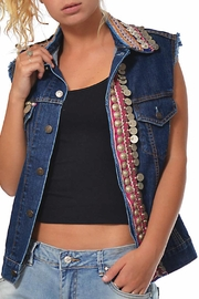 Gypsetters Tribal Embellished Vest - Front cropped