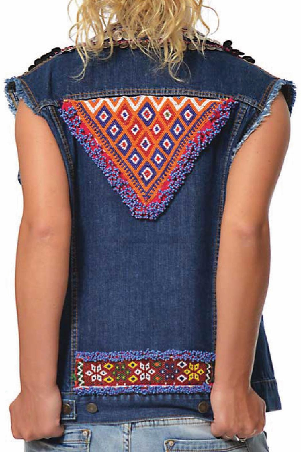 Gypsetters Tribal Embellished Vest - Front Full Image
