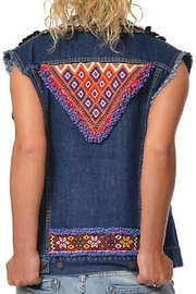 Gypsetters Tribal Embellished Vest - Front full body