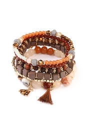 Riah Fashion Gypsy-Chic-Tassel Stack-Bracelet 2 - Product Mini Image