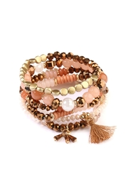 Riah Fashion Gypsy-Chic-Tassel Stack Bracelets - Product Mini Image