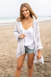 Wooden Ships Gypsy Fringe Cardigan - Front cropped