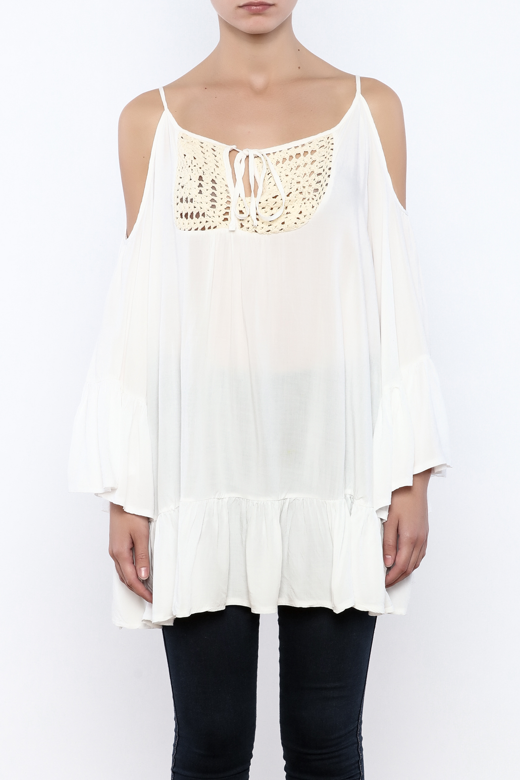 Gypsy Junkies Boho Crochet Top - Side Cropped Image