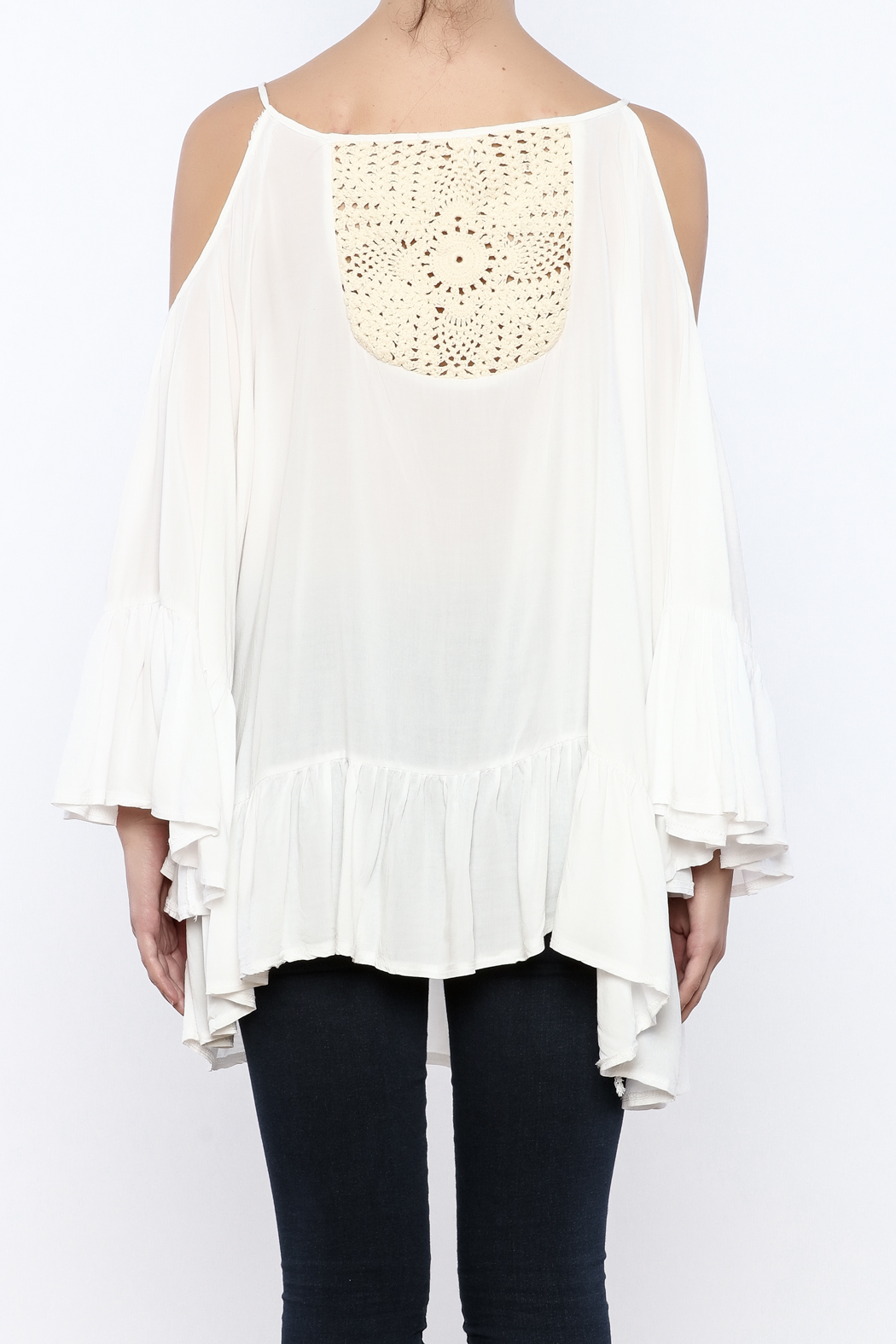Gypsy Junkies Boho Crochet Top - Back Cropped Image