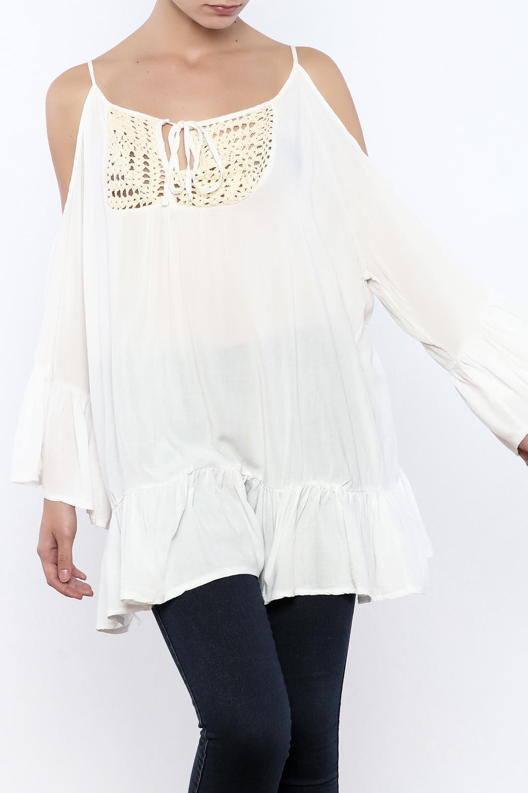 Gypsy Junkies Boho Crochet Top - Front Cropped Image