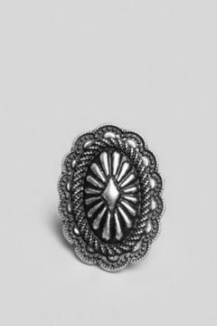 Gypsy Warrior Etched Concho Ring - Product List Image
