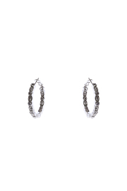 H & R Fashion Crystal Hoop Earring - Front cropped