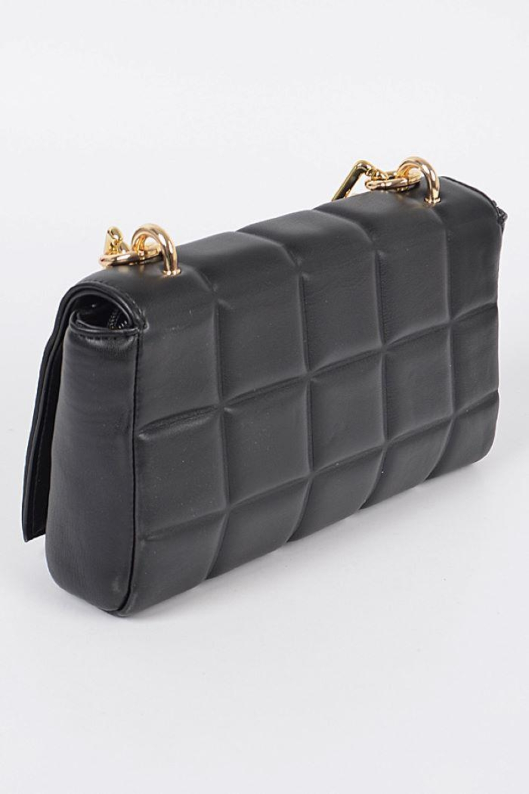 H&D Accessories Big Square Quilted Cross Body Bag - Side Cropped Image