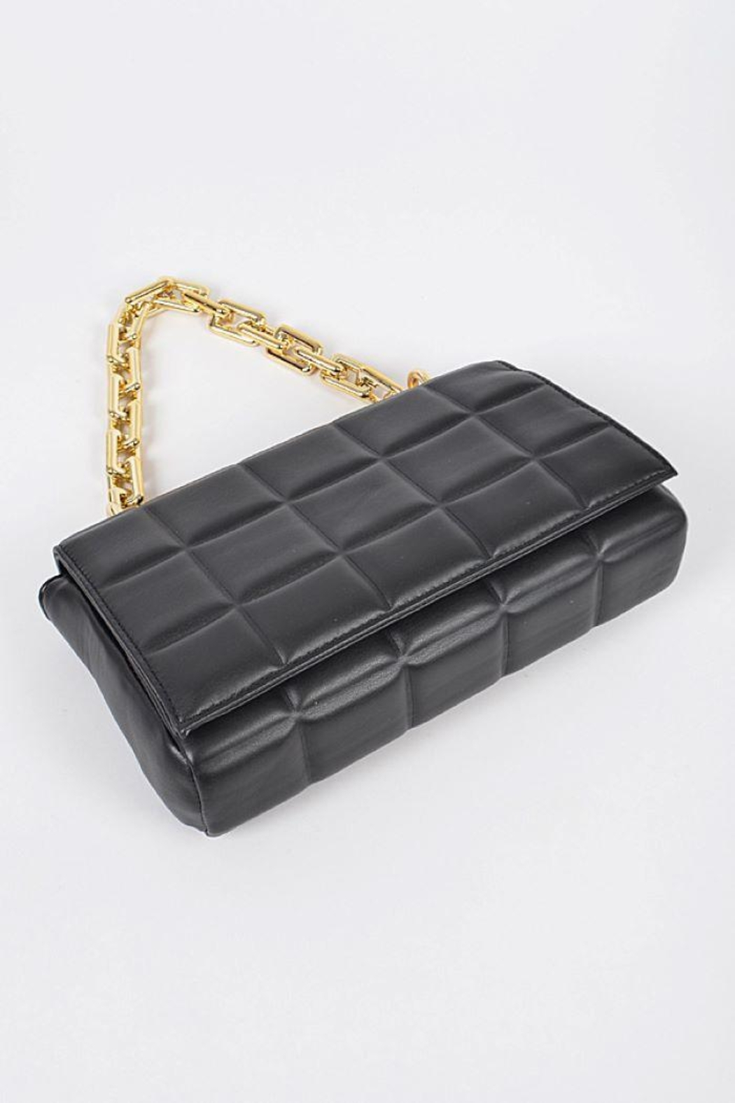 H&D Accessories Big Square Quilted Cross Body Bag - Back Cropped Image