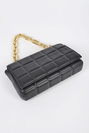 H&D Accessories Big Square Quilted Cross Body Bag - Back cropped