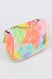 H&D Accessories Faux Leather Multi Color Quilted Clutch - Other