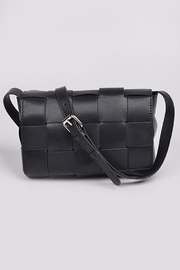 H&D Accessories Monotone Weaving Leather Clutch - Product Mini Image