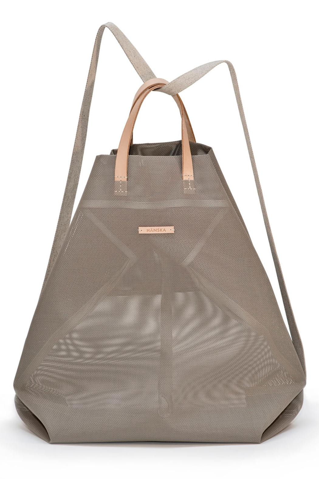 Hänska Shopper Backpack Taupe - Front Cropped Image