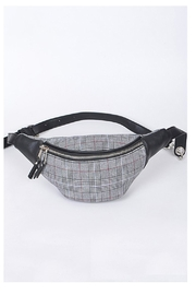 H & D Grey Plaid Fannypack - Product Mini Image