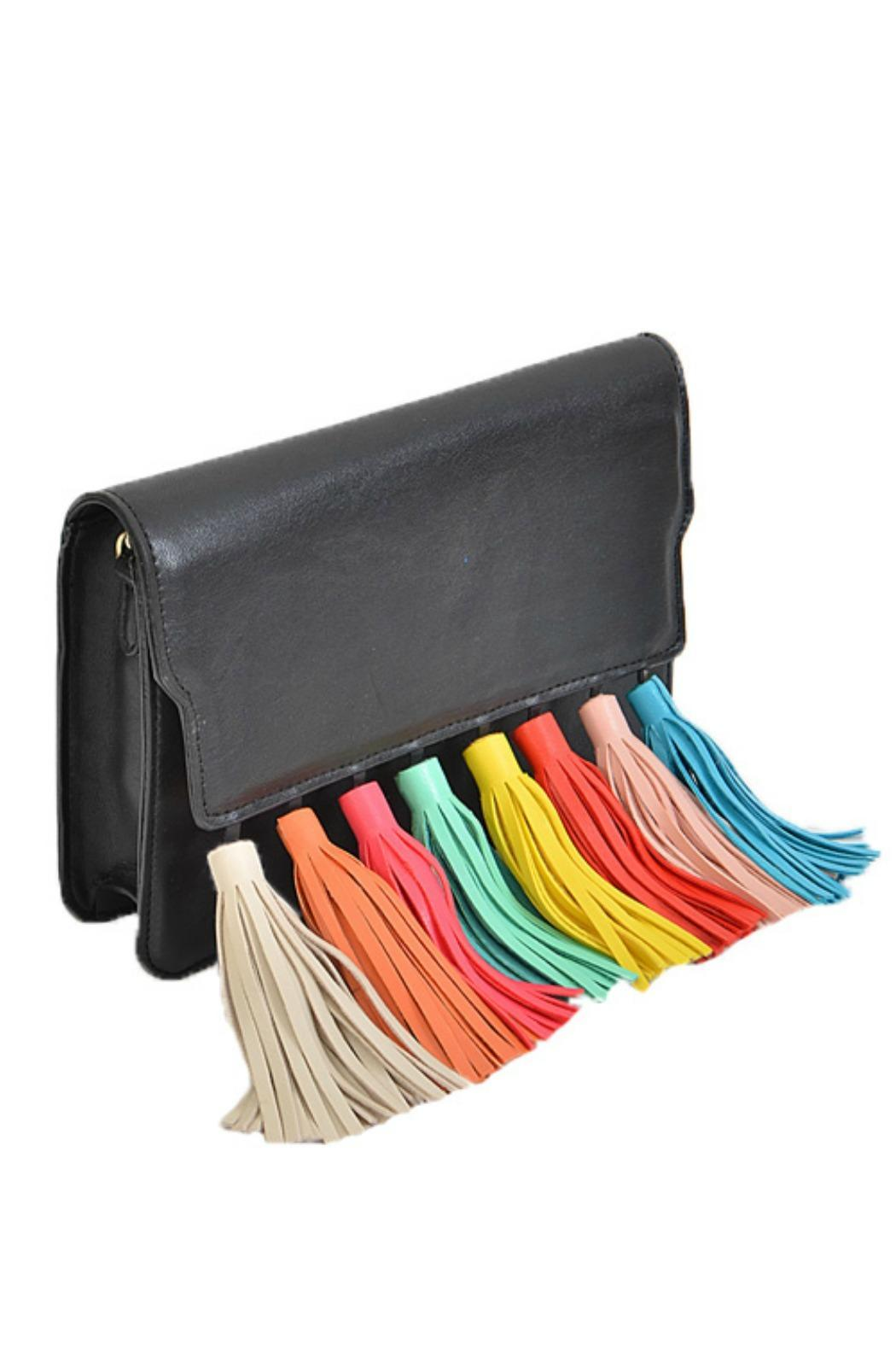 H & D Multi Tassel Clutch - Front Cropped Image