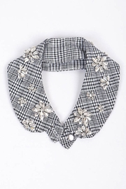 H & D Rhinestone Plaid Collar - Product Mini Image