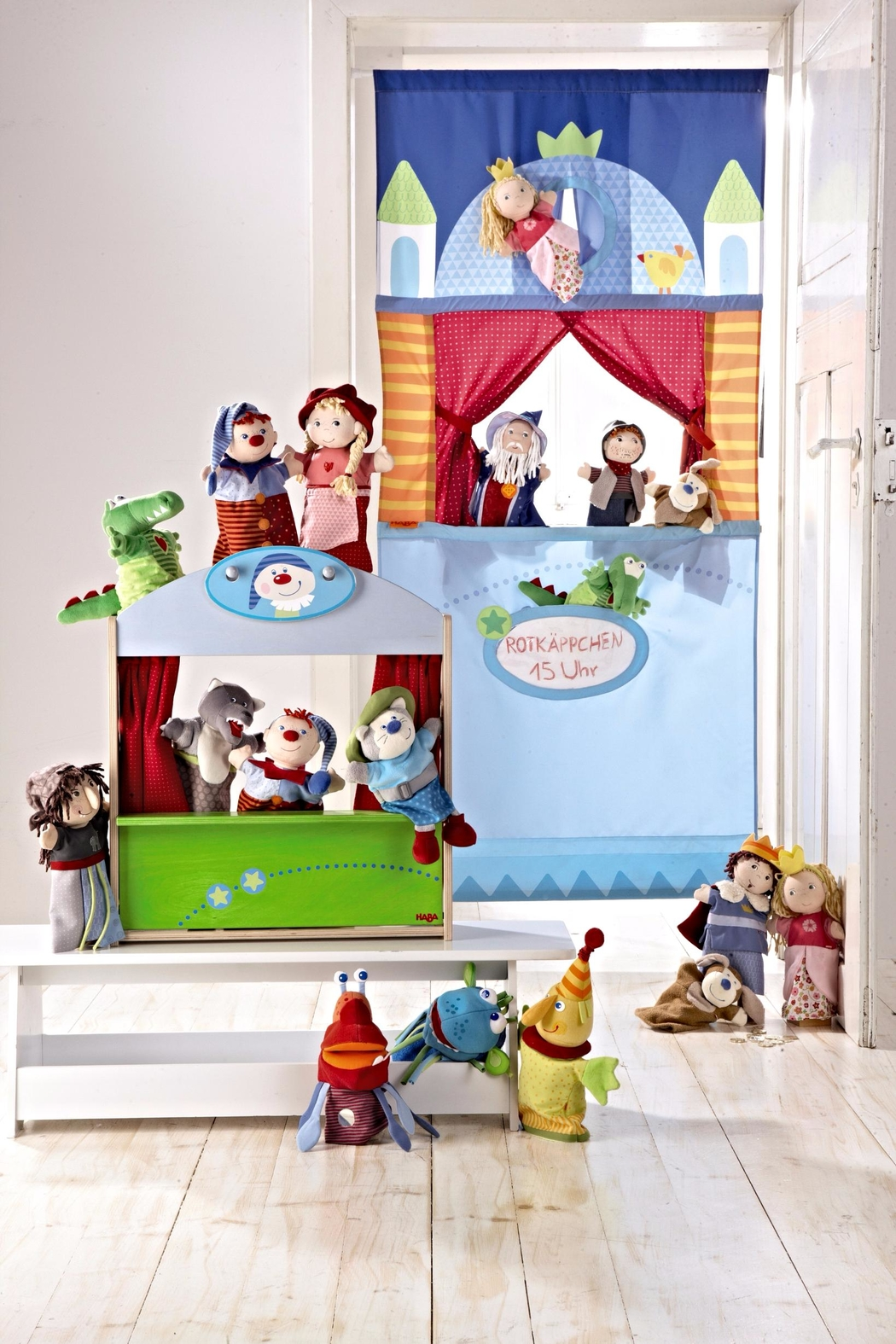 HABA USA Doorway Puppet Theater - Side Cropped Image