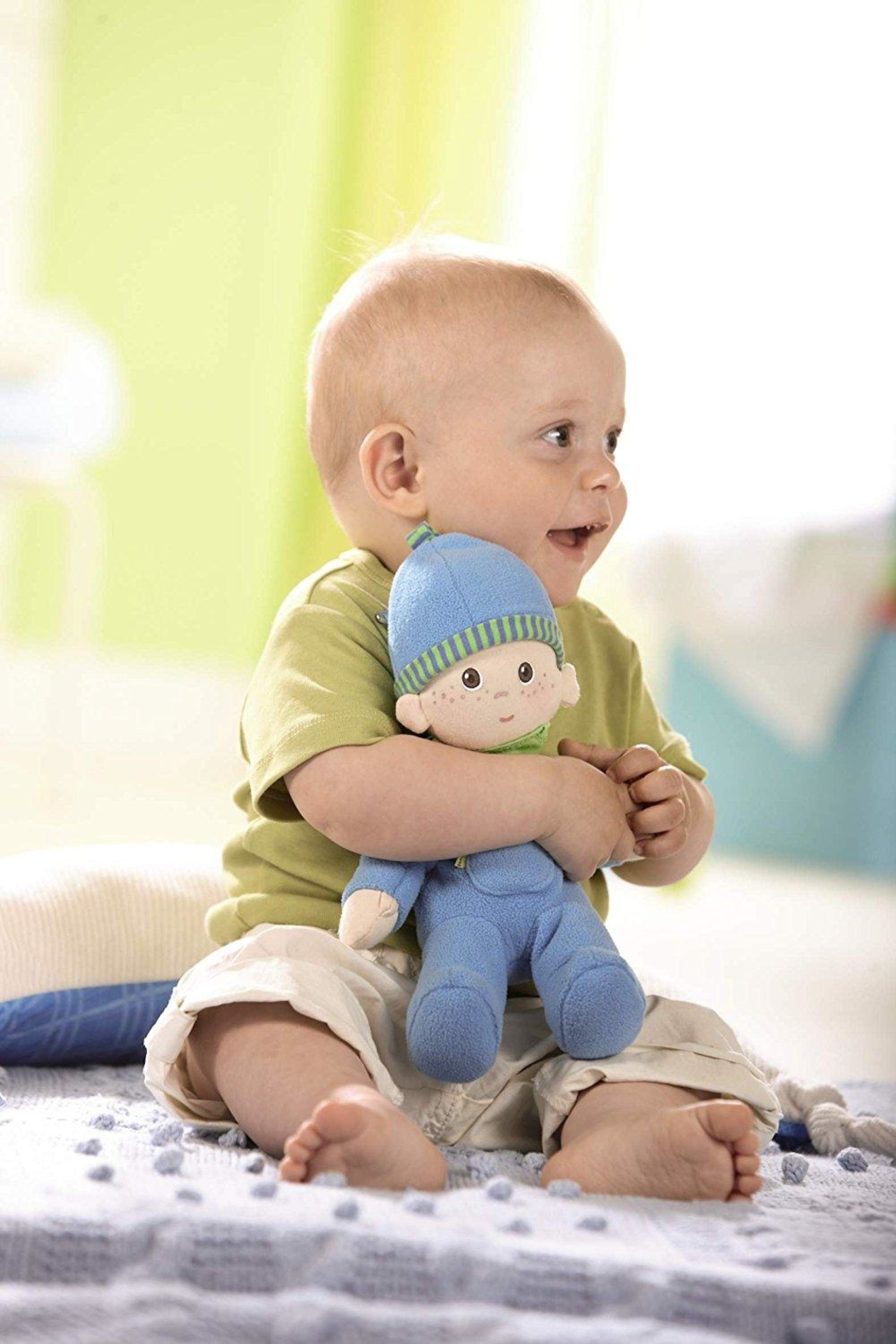 HABA USA Snug Up Doll Luis - Front Full Image