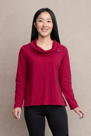 Habitat Button Cowl Neck Cerise A25737 - Product Mini Image