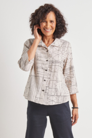 Habitat 44038 Abstract Tribal Easy Shirt - Front cropped