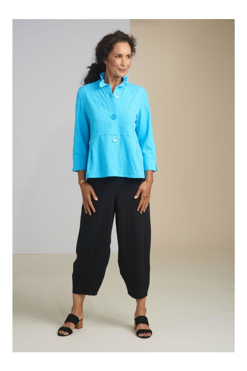 Habitat Stretch Pucker Ruched Collar Jacket - Front Cropped Image