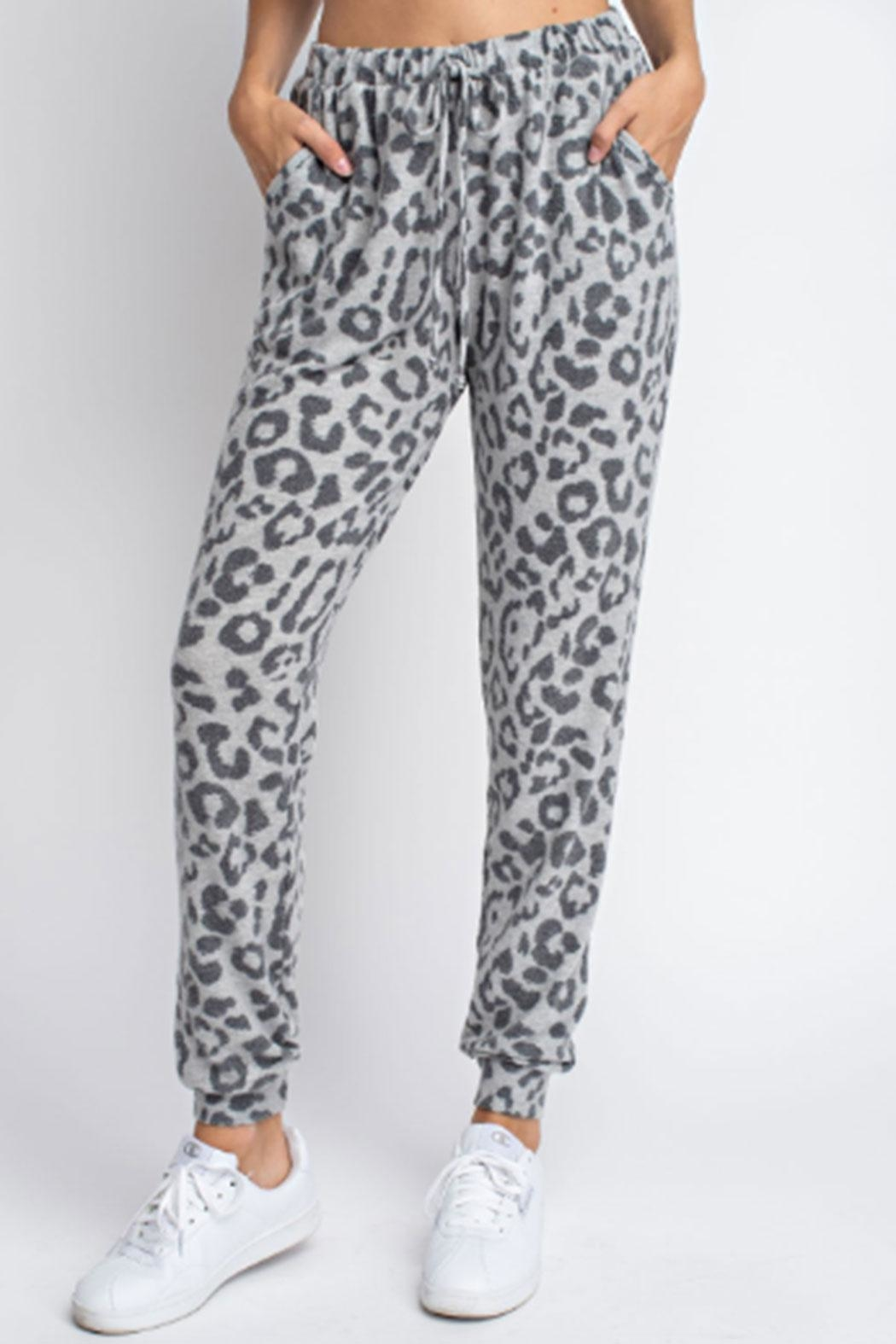 143 Story Hacci-Brushed Leopard Joggers - Main Image