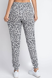 143 Story Hacci-Brushed Leopard Joggers - Back cropped