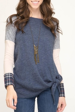 She + Sky Hacci Color-Blocked Long-Sleeve - Product List Image