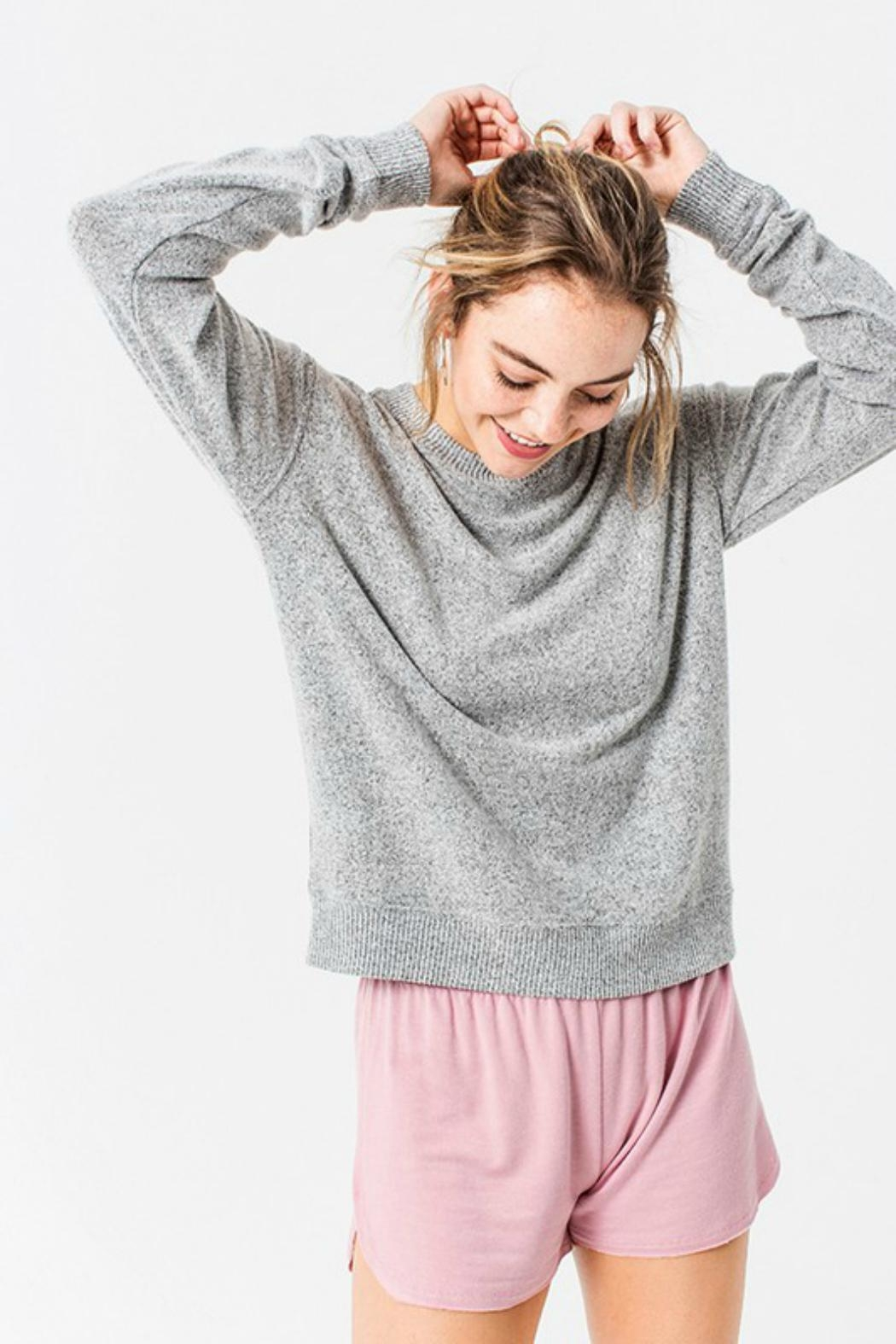 Double Zero Hacci Knit Sweater - Front Full Image