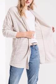 z supply Hacci Open Cardigan - Back cropped