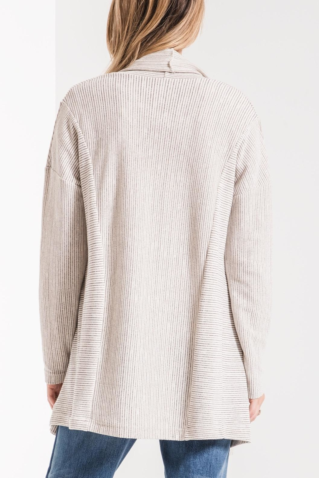 z supply Hacci Open Cardigan - Side Cropped Image