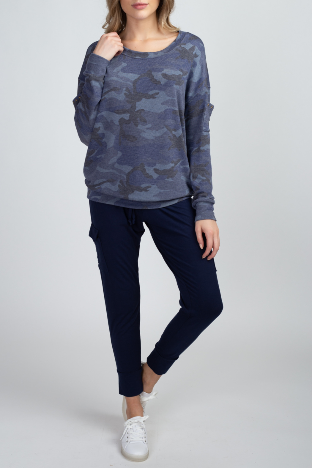 Olivia Graye Hacci pullover with studded star side pockets - Main Image