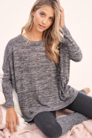 LA MIEL  Hacci Space Dyed Tee - Front full body