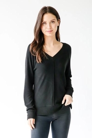 Six Fifty Hacci V Neck Center Seam Sweater - Product Mini Image