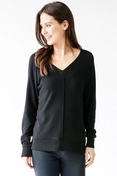 Six Fifty Hacci V Neck Center Seam Sweater - Alternate List Image
