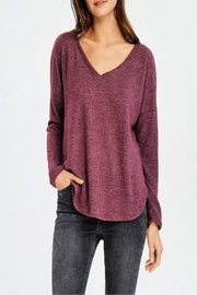 Miss Darlin Hacci Vneck Top - Front cropped