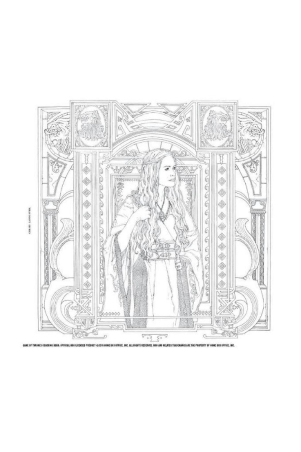 Hachette Book Group Game of Thrones Coloring Book - Side Cropped Image