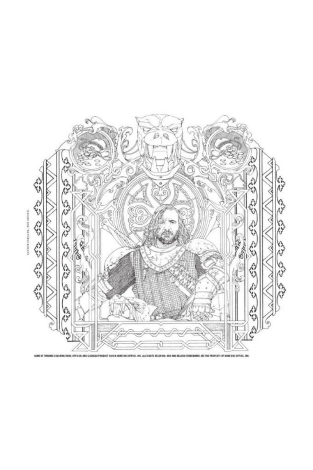 Hachette Book Group Game of Thrones Coloring Book - Front Full Image