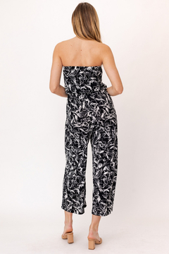 Gilli HADLEE Strapless Abstract Printed Jumpsuit with Pockets - Alternate List Image