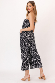 Gilli HADLEE Strapless Abstract Printed Jumpsuit with Pockets - Side cropped