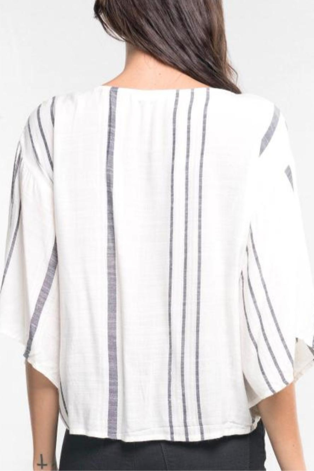 Love Stitch Hadley Striped Top - Front Full Image