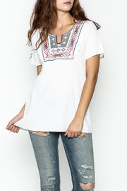 Hailey & Co. Boho Embroidered Top - Front cropped