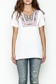 Hailey & Co. Boho Embroidered Top - Front full body