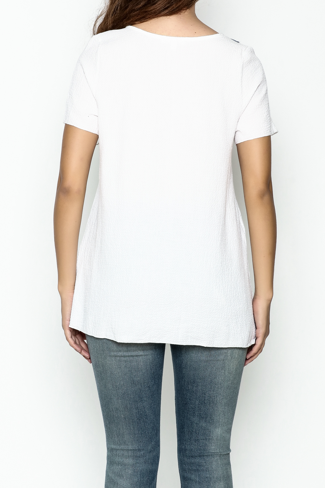 Hailey & Co. Boho Embroidered Top - Back Cropped Image