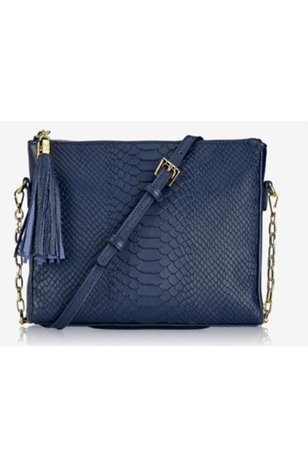 Gigi New York Hailey Python Crossbody - Front Cropped Image