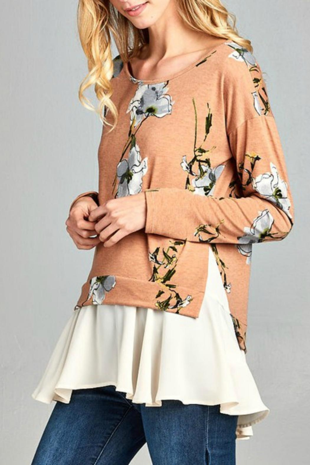 Hailey & Co. Floral Top - Front Full Image