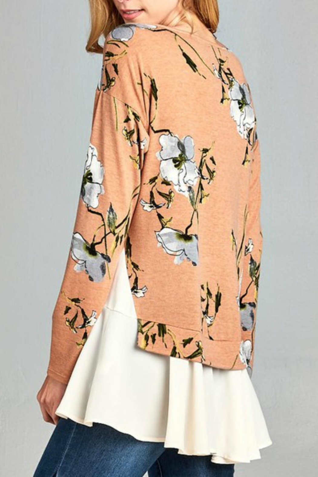 Hailey & Co. Floral Top - Back Cropped Image