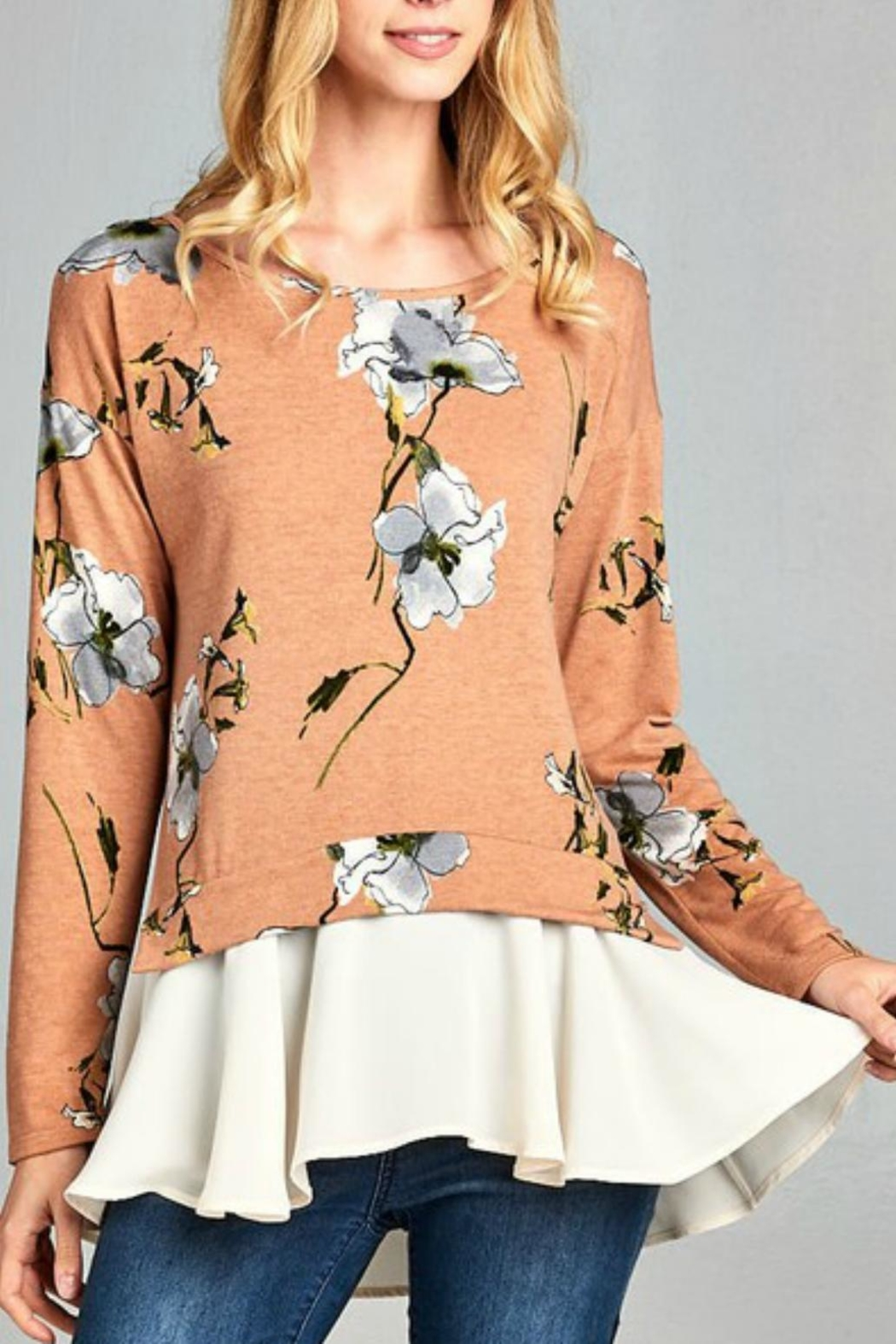 Hailey & Co. Floral Top - Main Image